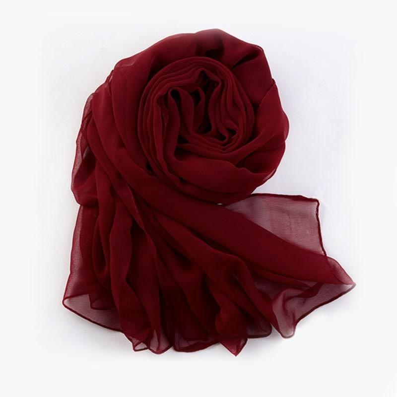 chiffon scarf maroon chiffon scarf by robeplus on