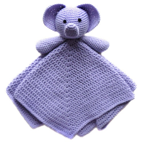 Crochet Elephant Blanket : Elephant Security Blanket - PDF Crochet Pattern - Instant Download