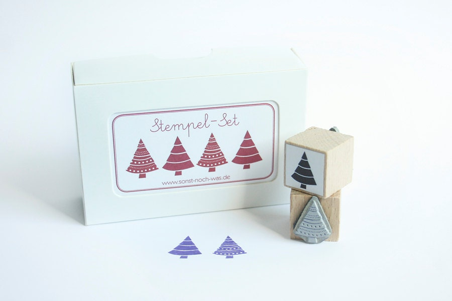"Rubber Stamps ""O Christmas Tree"" (Set of 2) - sonstnochwas"