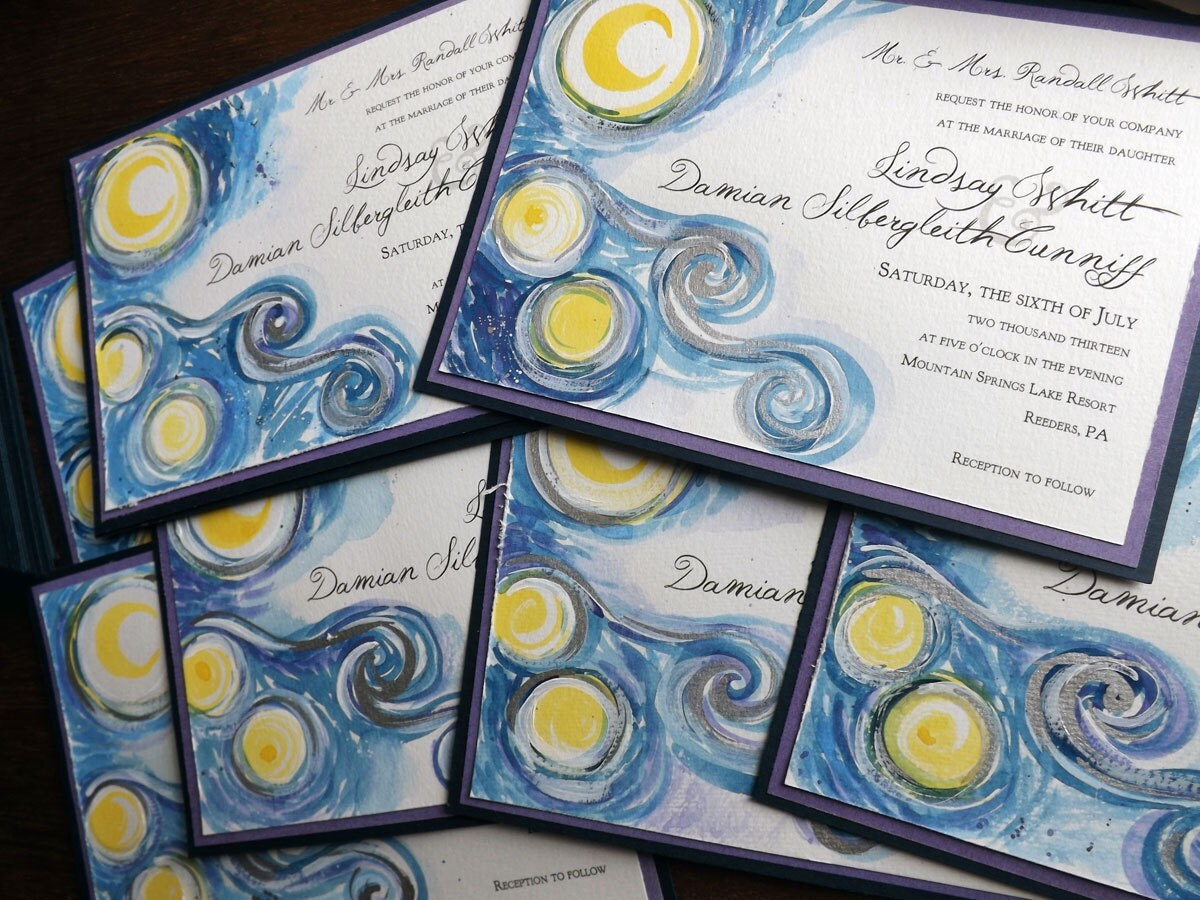 Starry Night Wedding Invitations correctly perfect ideas for your invitation layout
