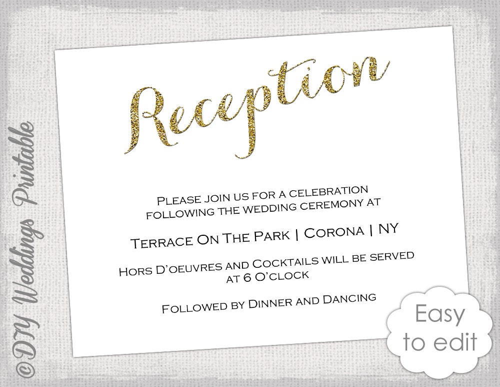 Free printable wedding reception templates stopboris Image collections