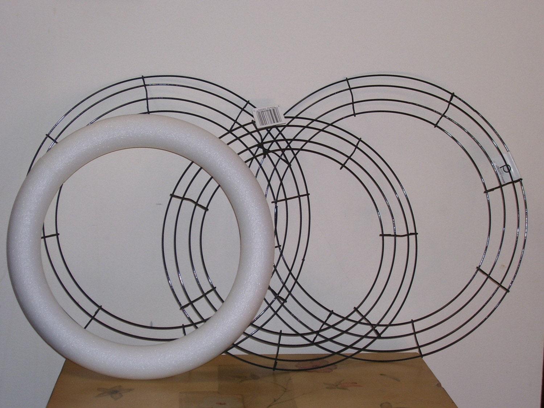 items similar to 7 wire wreath frames 2 styrofoam wreath. Black Bedroom Furniture Sets. Home Design Ideas