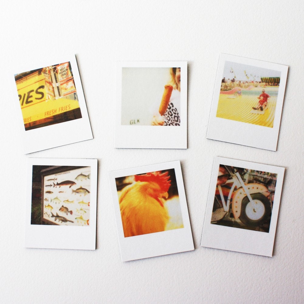 minnesota state fair polaroid magnets ... set of 6 magnets
