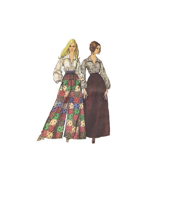 simplicity 70s sewing pattern maxi skirt by