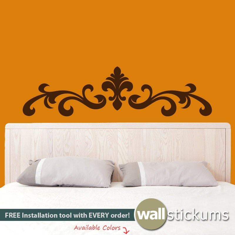 Decal headboard bedroom