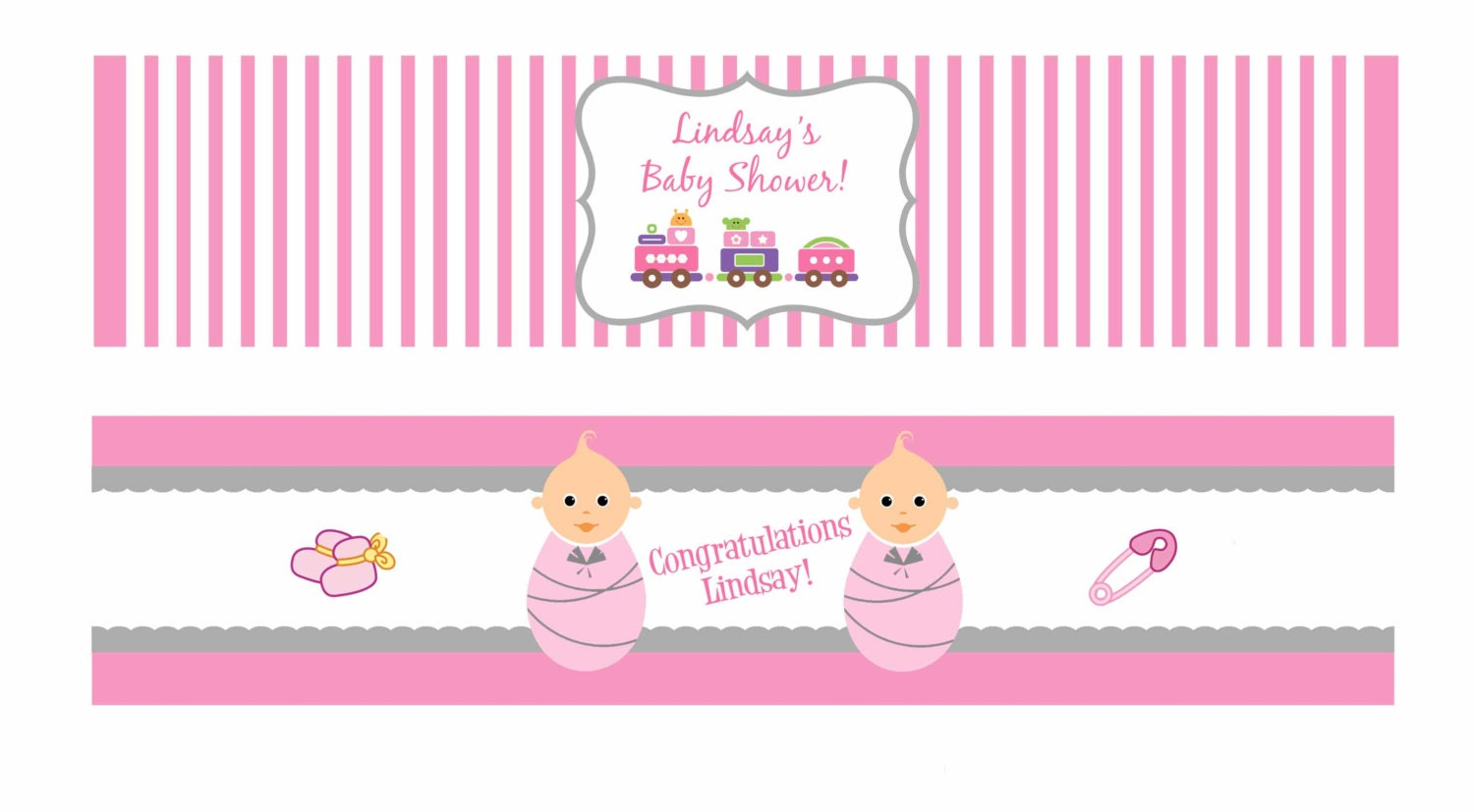 Printable Baby Shower Water Bottle Labels Colors by DesignsByDVB
