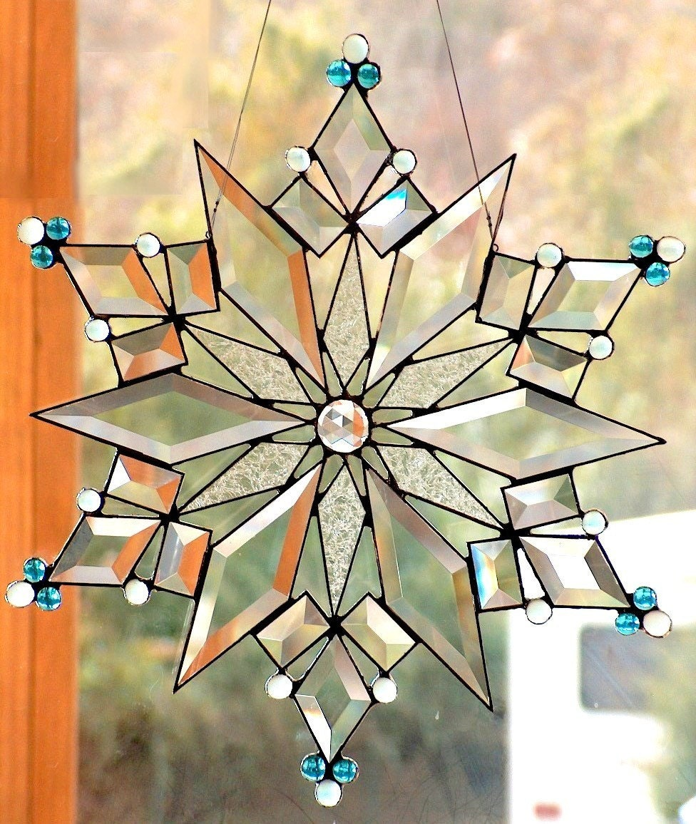 Stained Glass Star Snowflake The Stars Of Today 1
