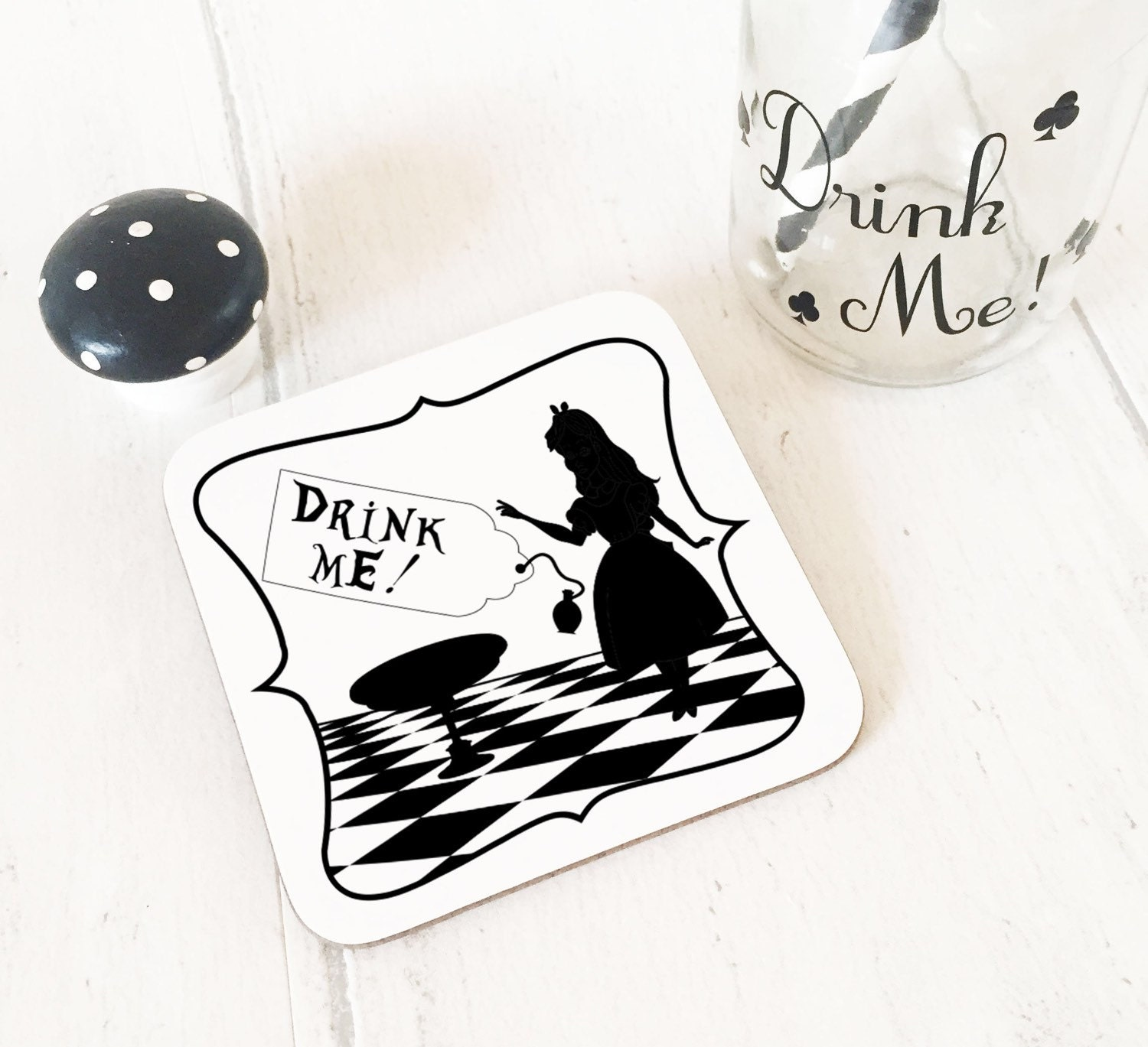 Alice in Wonderland Alice Drink Me Coaster