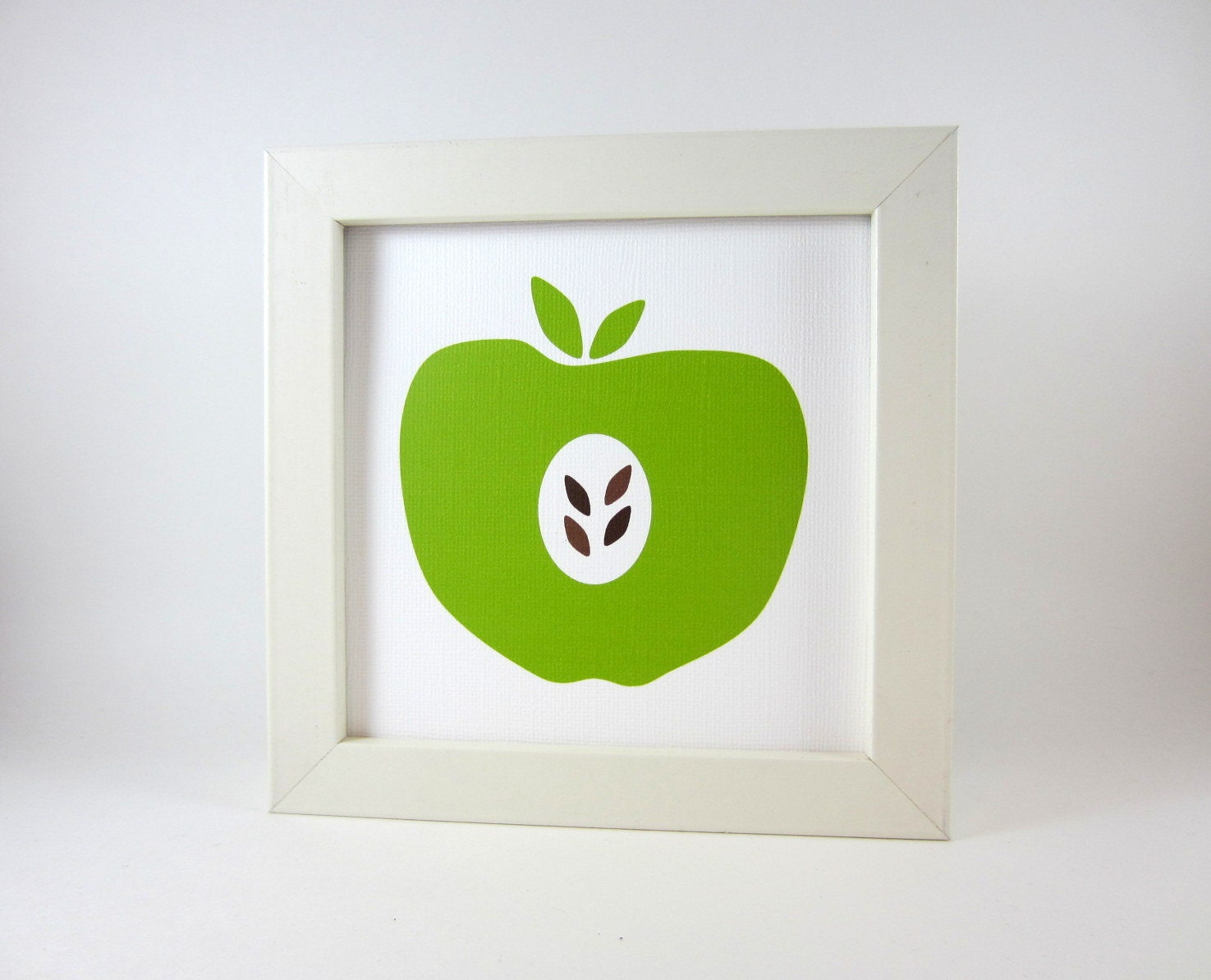 Items similar to green apple wall art print home decor for Apple home decor