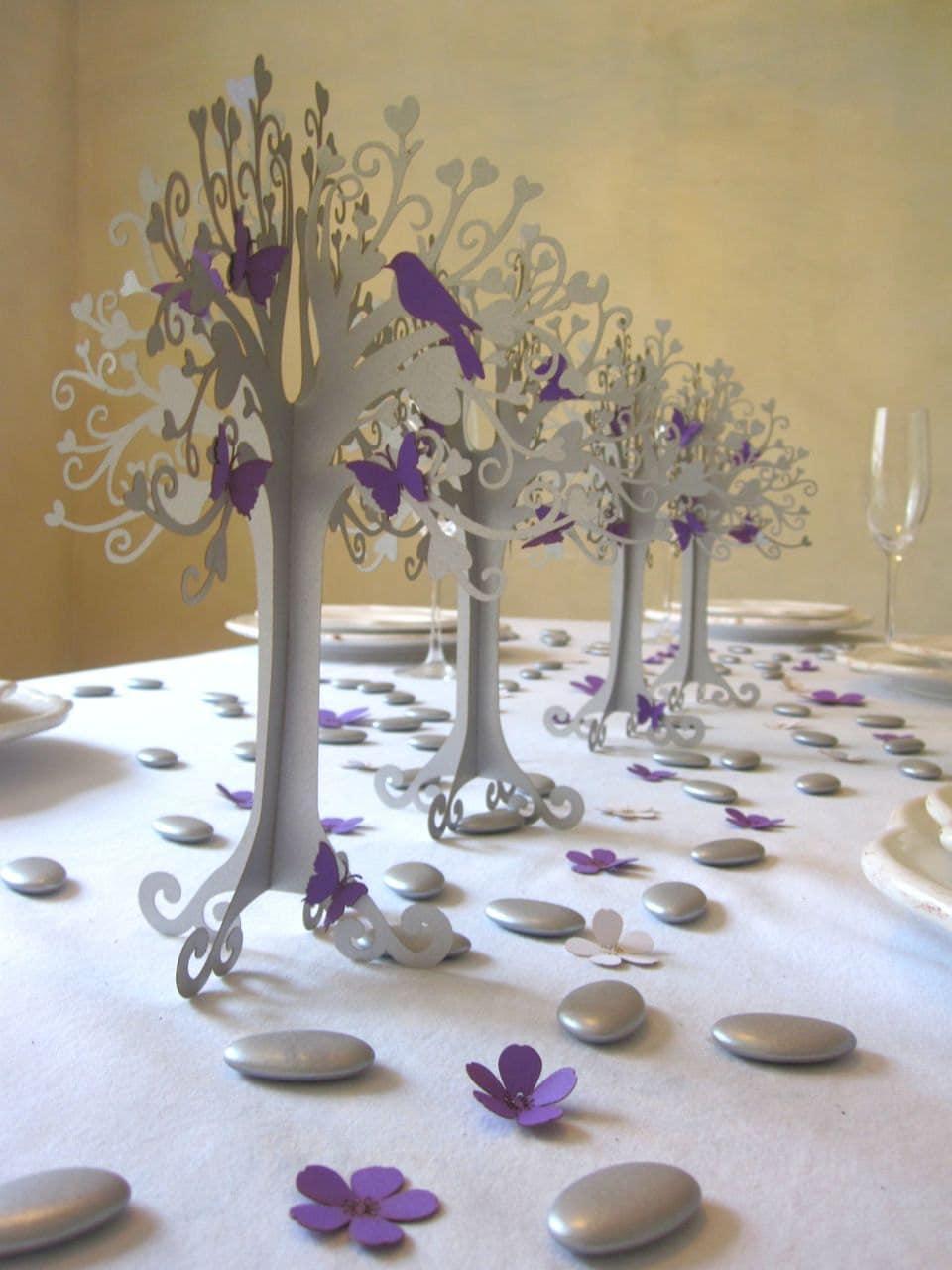 items similar to wedding decoration heart tree silver purple on etsy. Black Bedroom Furniture Sets. Home Design Ideas
