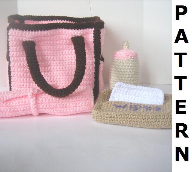 Crochet Diaper Bag Pattern Free : Diaper Bag Crochet Pattern by CrochetNPlayDesigns on Etsy