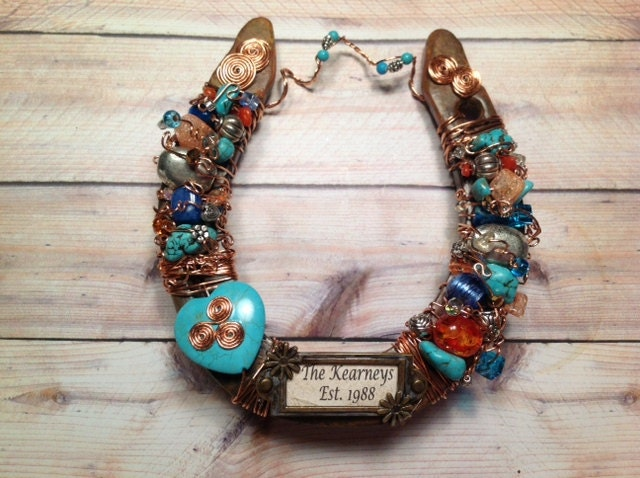 Personalized Western Decorated Horseshoe Lucky by