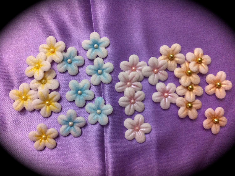 different fondant flowers