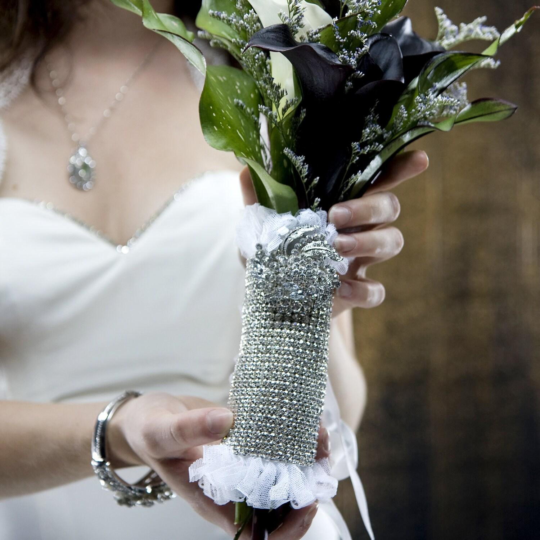 Обожаю Rhinestone Свадебная коллекция Тюль Букет Wrap