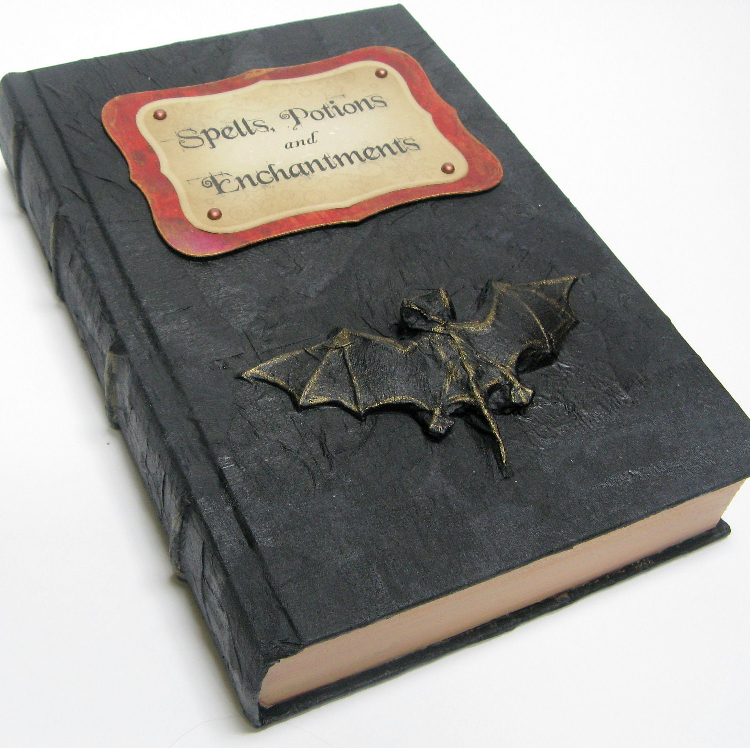 Witch's Spell Book - Halloween Decor - Recycled Book - ElvesInTheAttic