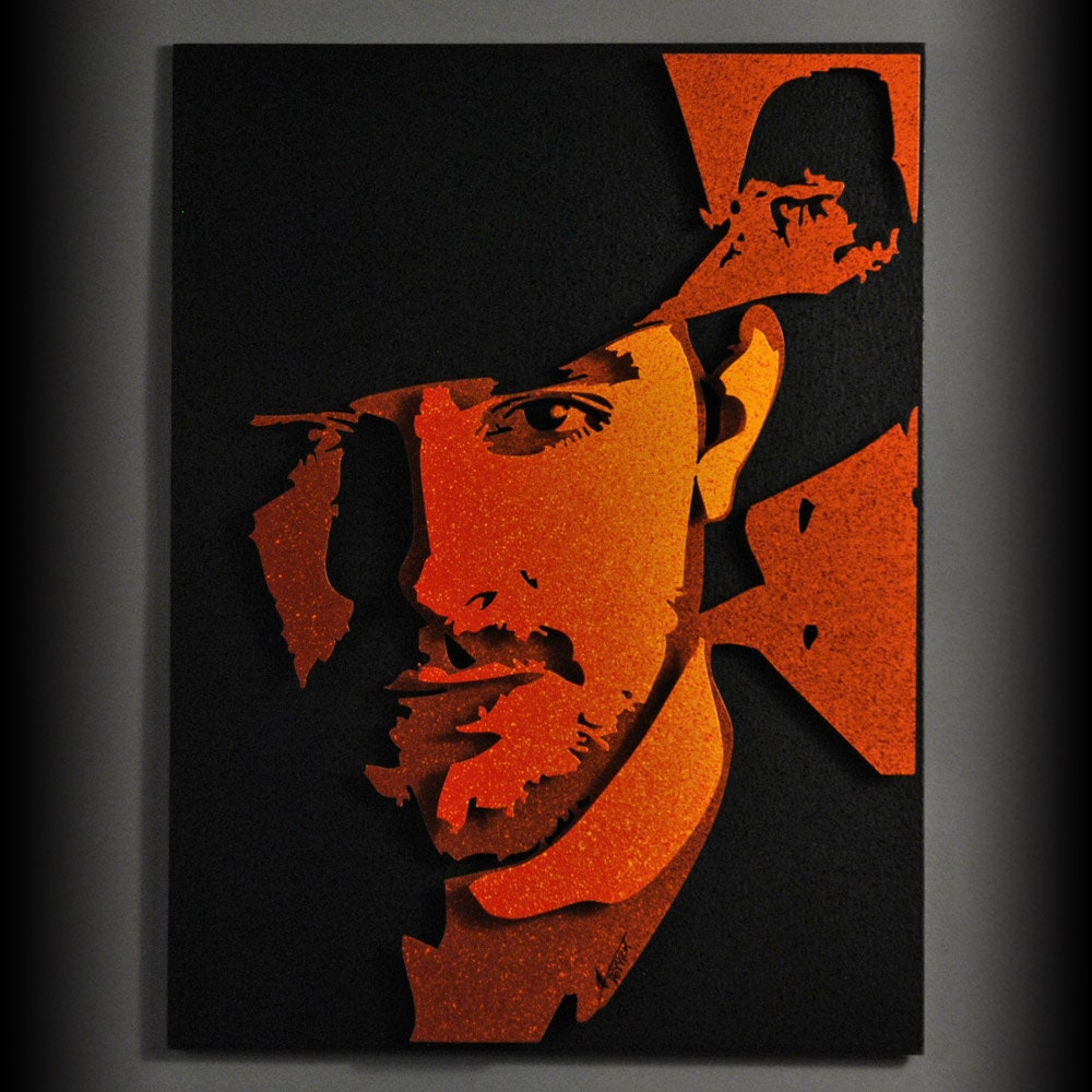 chris young country music 3d metal pop art orange. Black Bedroom Furniture Sets. Home Design Ideas