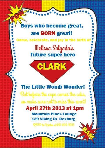superhero baby shower invitation by perfecthostess on etsy