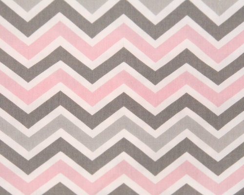 Pink Gray And White Chevron Crib Sheet By Designsbychristys
