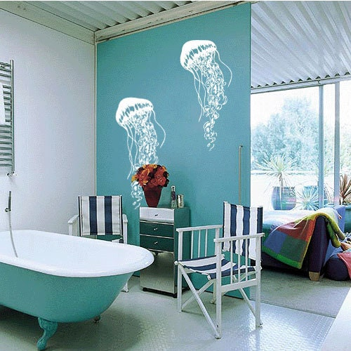 Jellyfish Vinyl Wall Art Decal by 7Decals