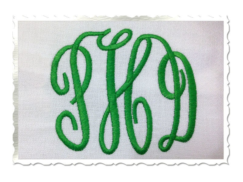 Classic letter monogram machine by rivermillembroidery