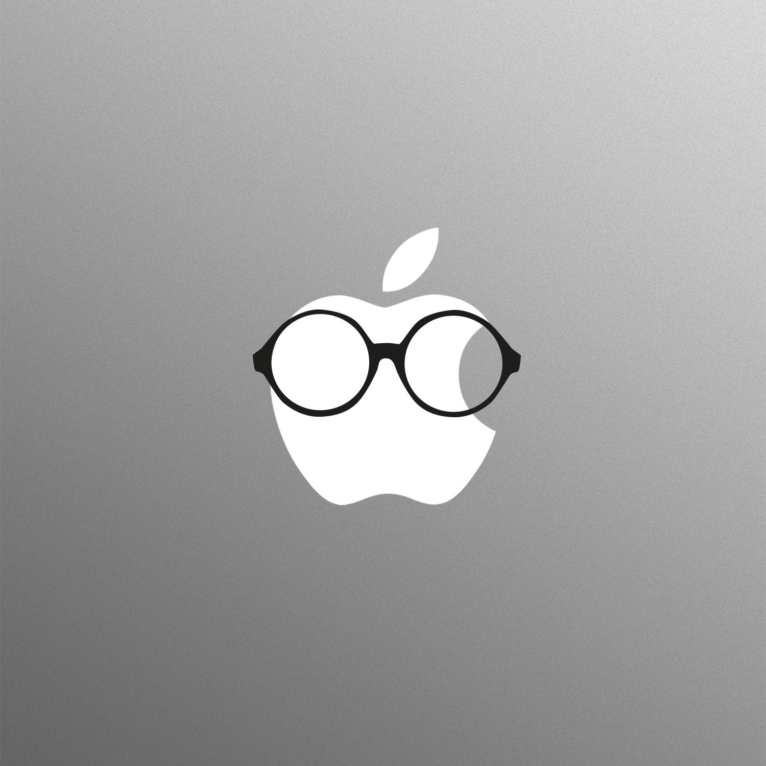 Round Geeky Glasses Laptop Sticker for Apple MacBook  Pro  Air