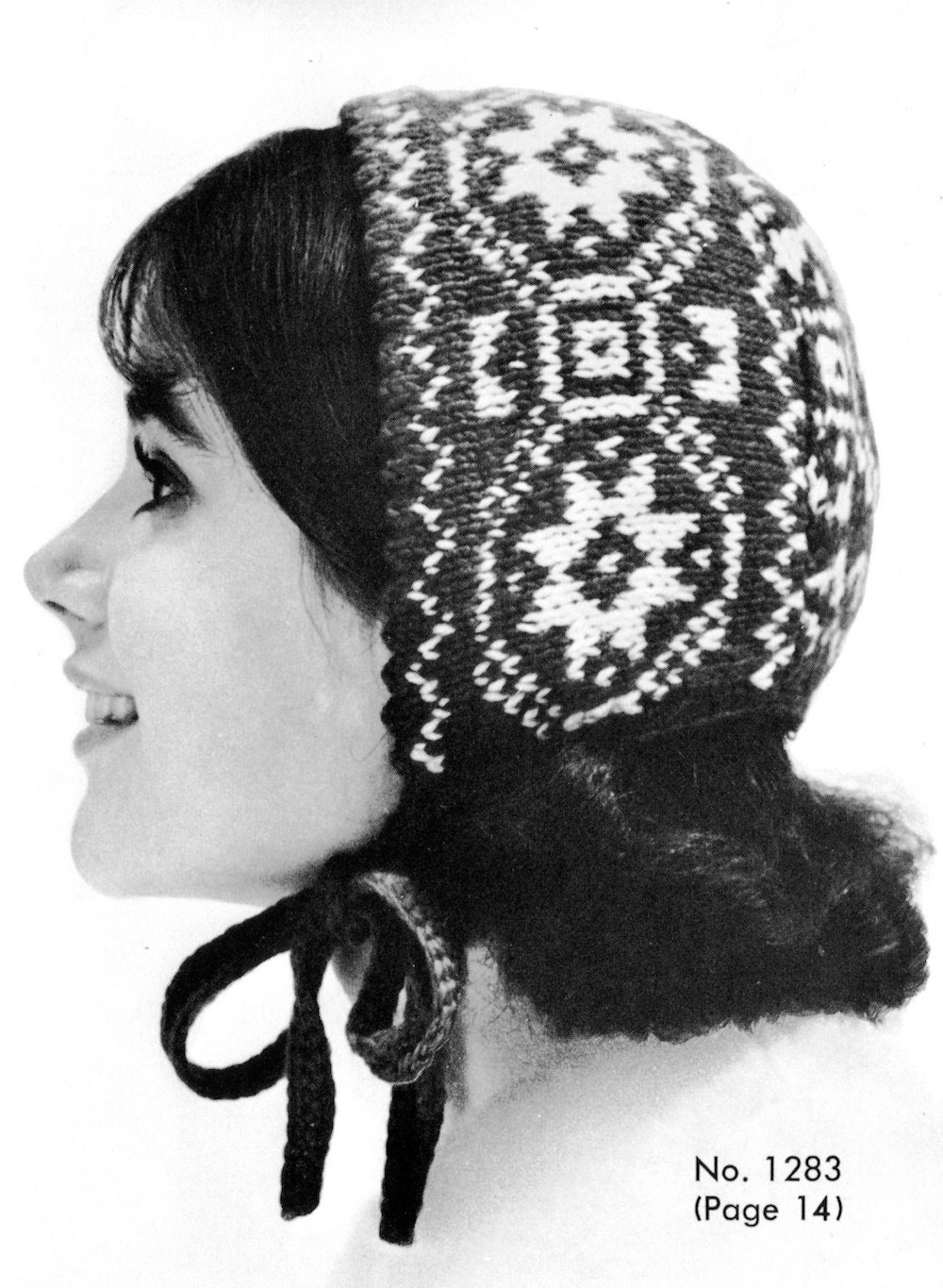 Items similar to 1960s Norwegian Cap Vintage Knitting ...