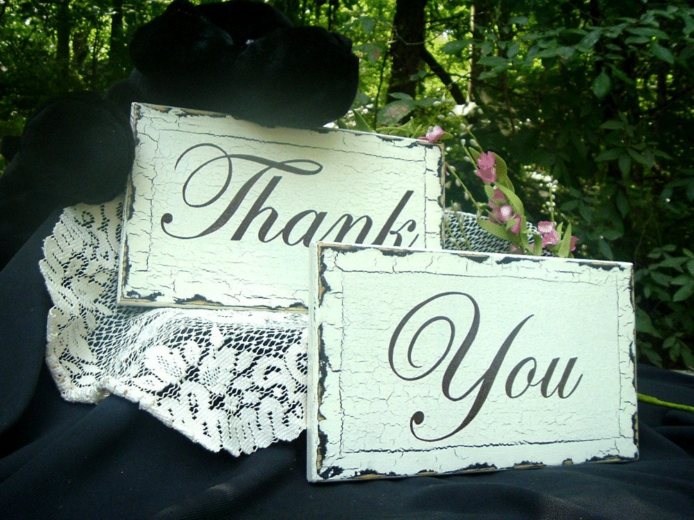 Thank You Wedding Signs Hand Painted Wedding Signs Two 12 x7 From tcart2010