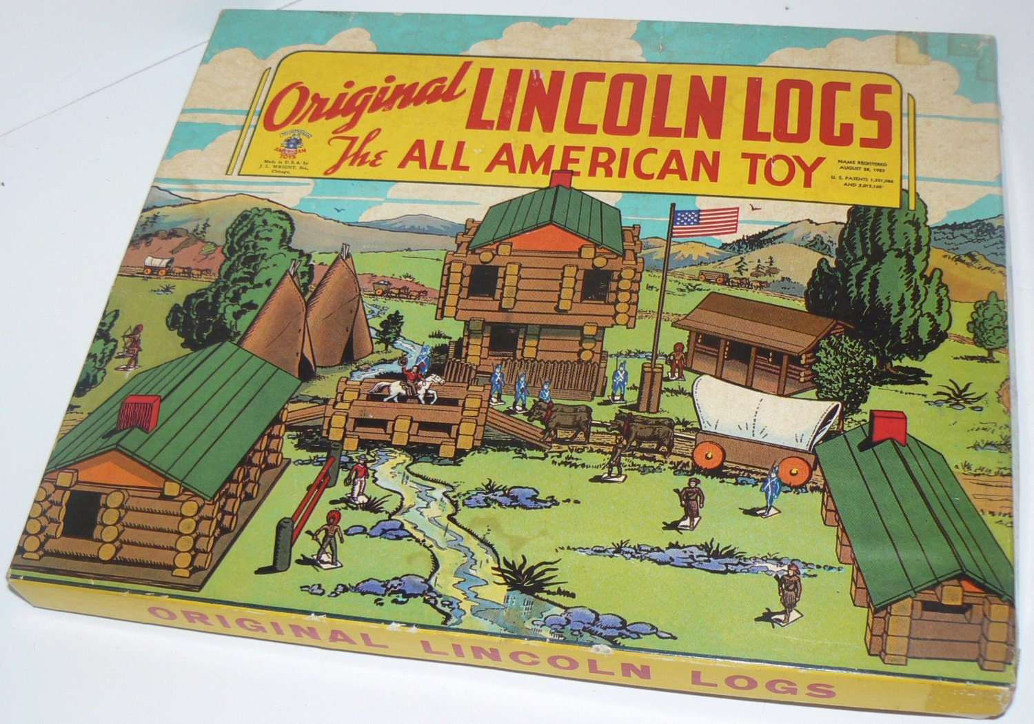 1930s The Original Lincoln Logs Box Set All American By