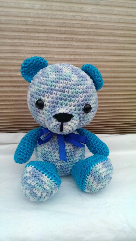 Amigurumi Turquoise and Blue Teddy Bear