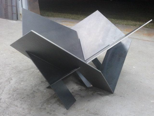 Modern Steel Fire Pit Industrial Metal Atomic By