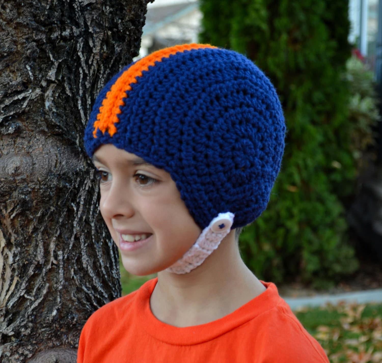 pattern football helmet hat crochet by sweetpotato3patterns