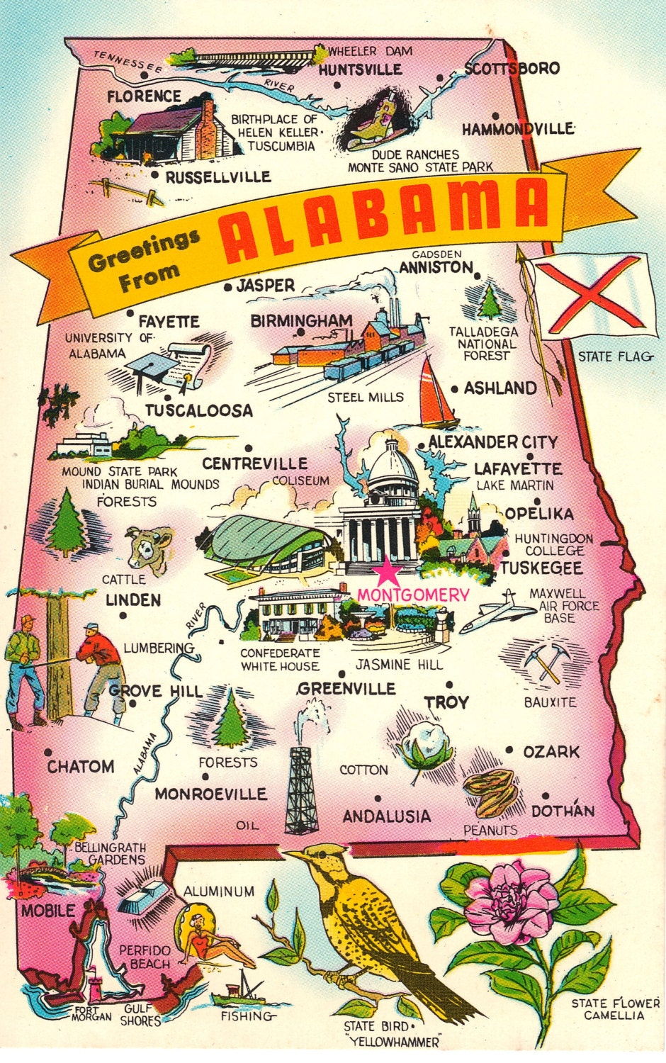 indiana state map with cities with Greetings From Alabama Vintage Postcard on South Us likewise Where Is San Francisco besides Kentucky Map moreover Greetings From Alabama Vintage Postcard additionally Eusa.