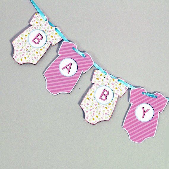 baby shower banner pennant bunting garland by delightfultrifles