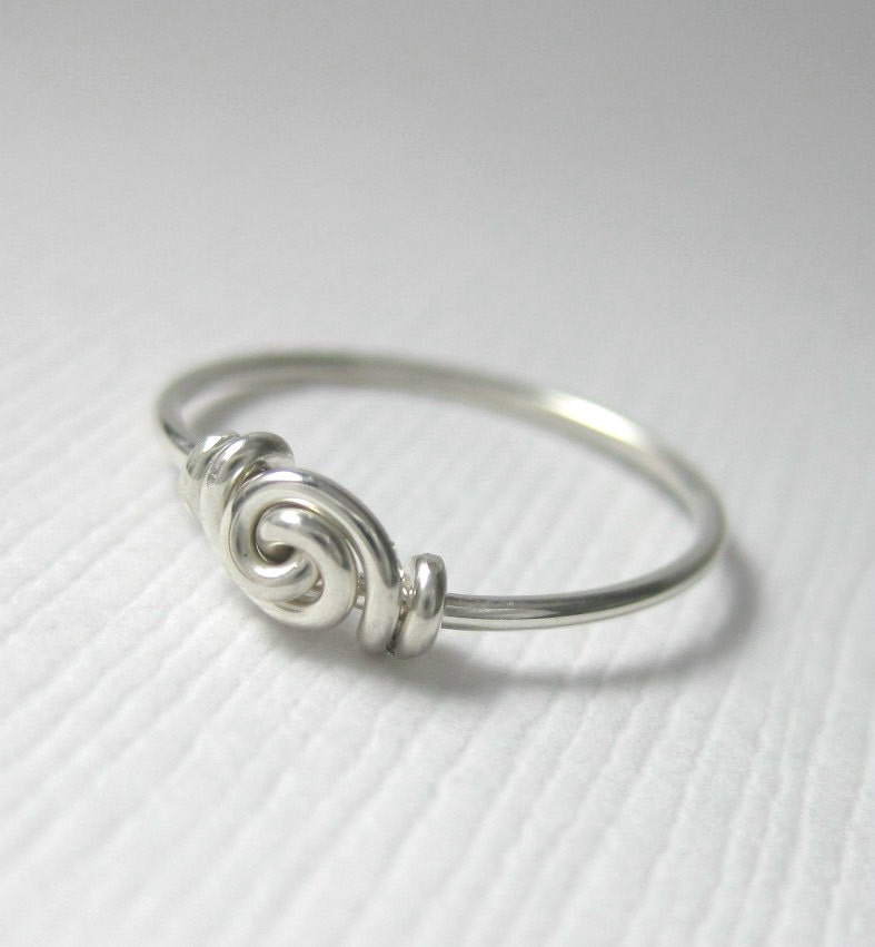 knot ring promise ring for tiny fingers by