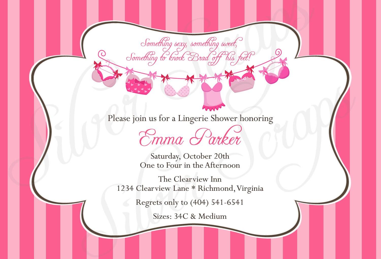 Lingerie Invites