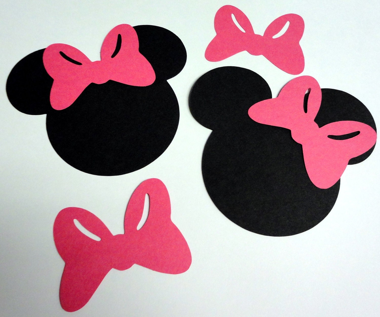 50 5 Minnie Mouse Head Silhouettes Black by StartedByAMouse1928