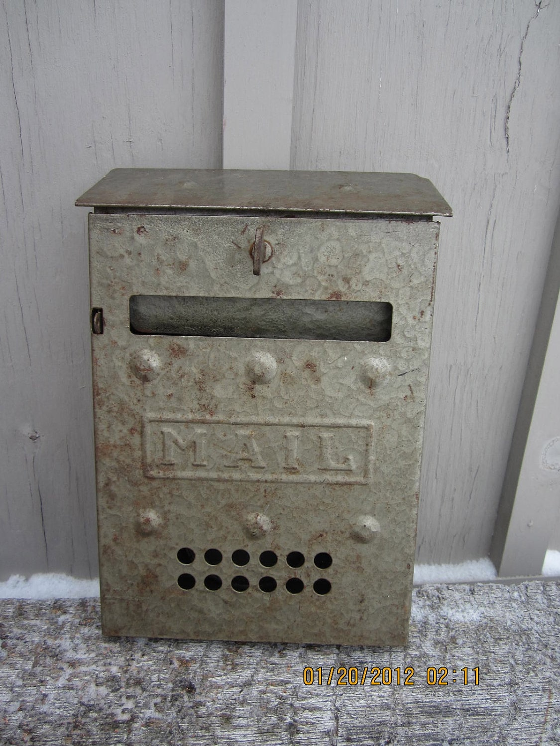 vintage metal wall mailbox mail letters retro by westofchelsea With metal mailbox letters
