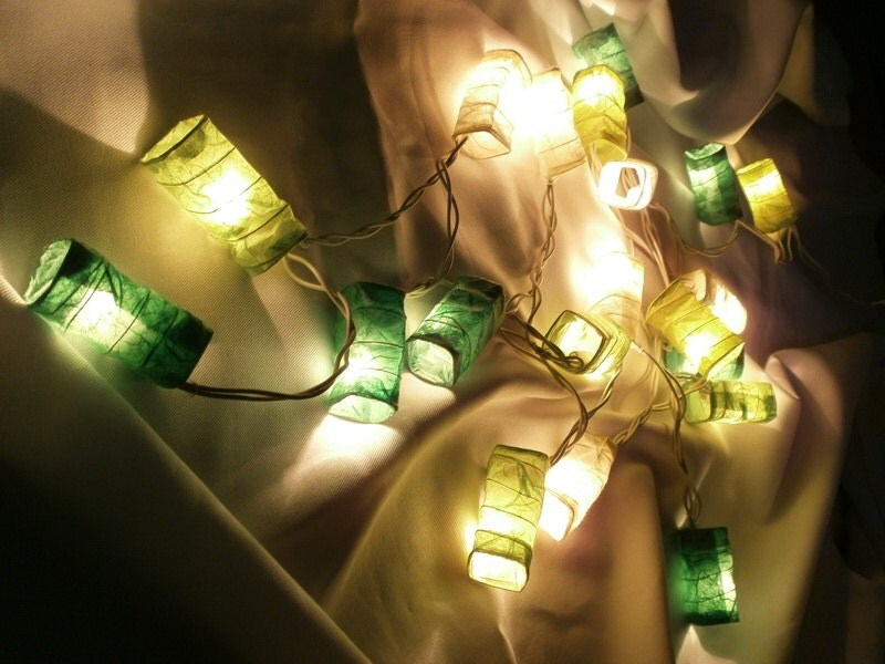 Paper Lantern String Lights Indoor : Items similar to Green Set Chinese Paper Lantern String Lights Home Decorate Indoor and Outdoor ...