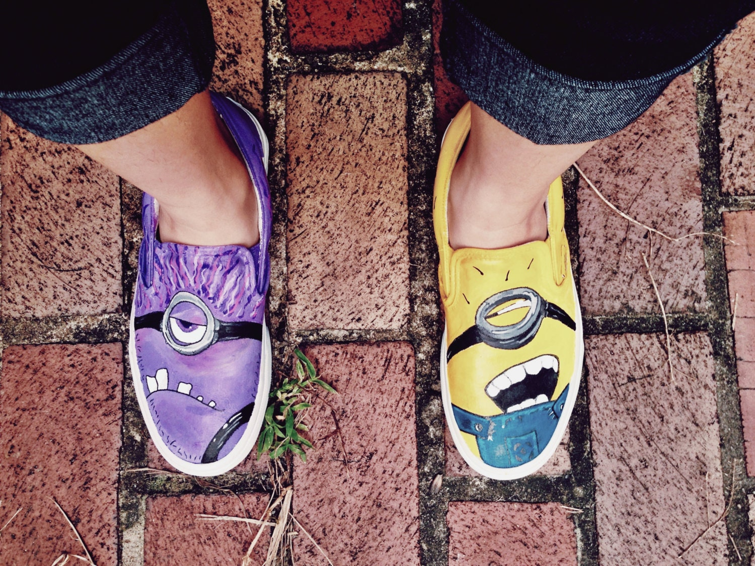 Custom Hand-Painted Despicable Me Minion Vans Shoes (Shoes NOT included)