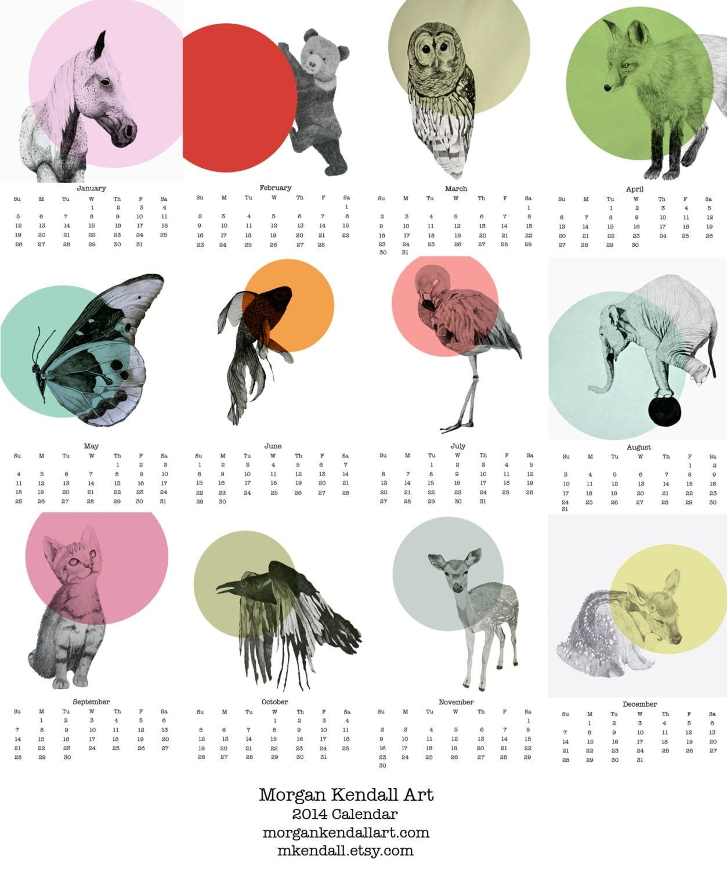 2014 Animal Calendar - mkendall