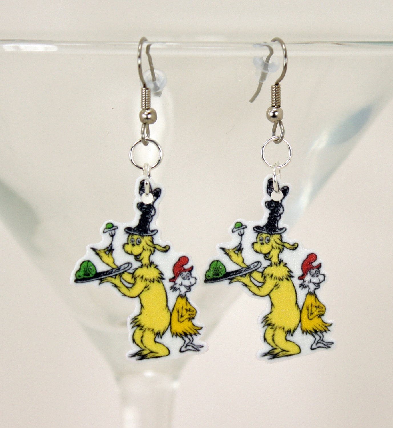 dr seuss green eggs and ham earrings sd fs by jegascreations