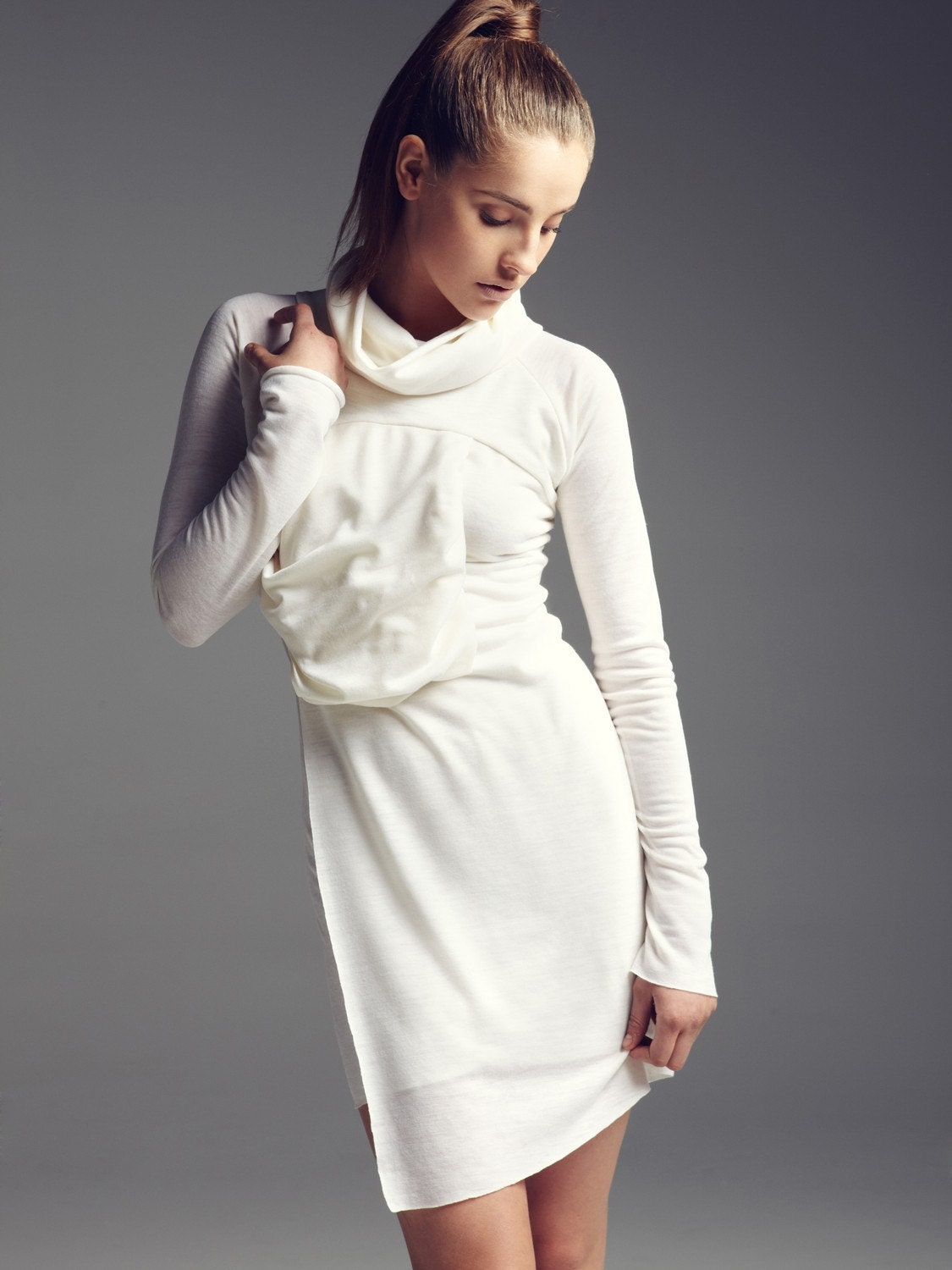 Wool jersey dress - vickyduboisdesign