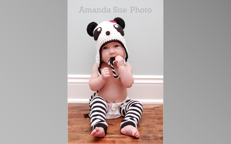 Panda Bear Earflap Hat Crochet Pattern : Panda Bear Hat Pattern Crochet Pattern 11 by ...