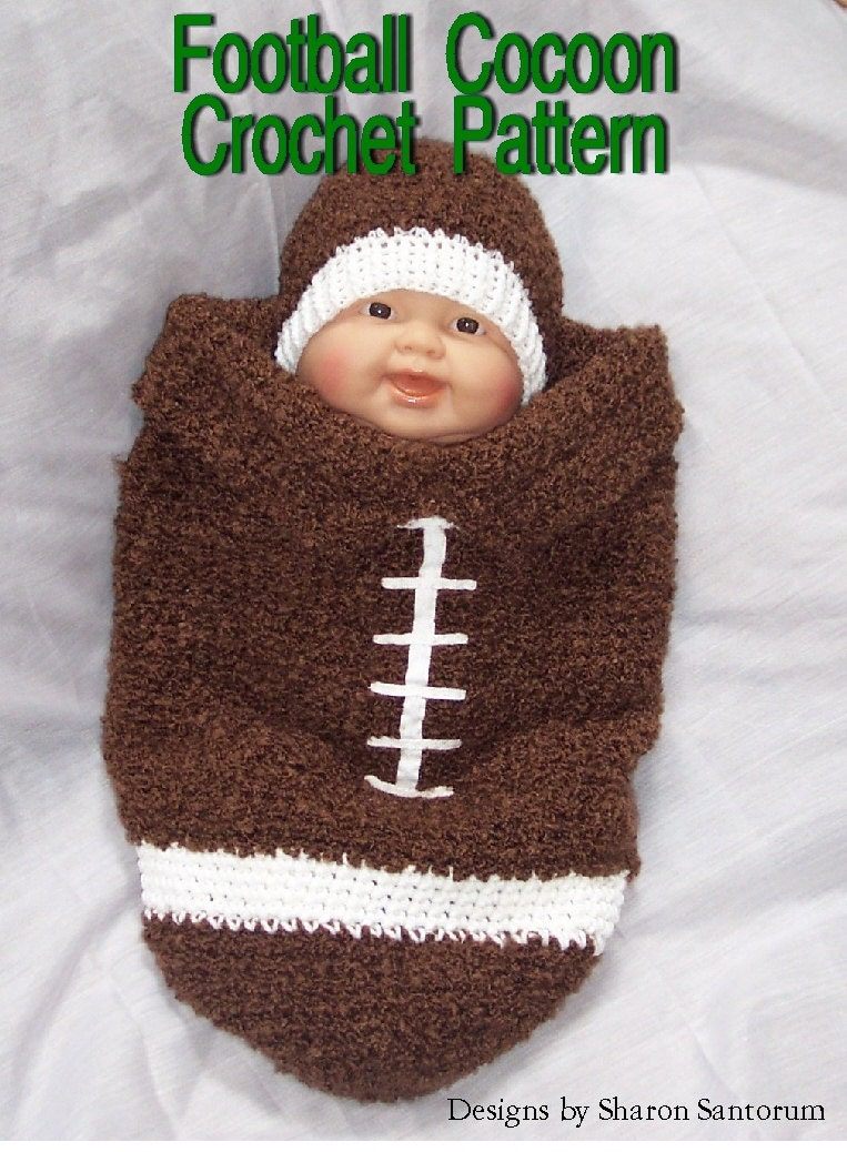 Baby Egg Cocoon Crochet Pattern Free : Football Cocoon Crochet Pattern PDF INSTANT by creeksendinc
