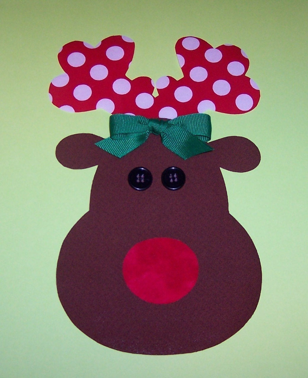 Reindeer Template Fabric applique template only