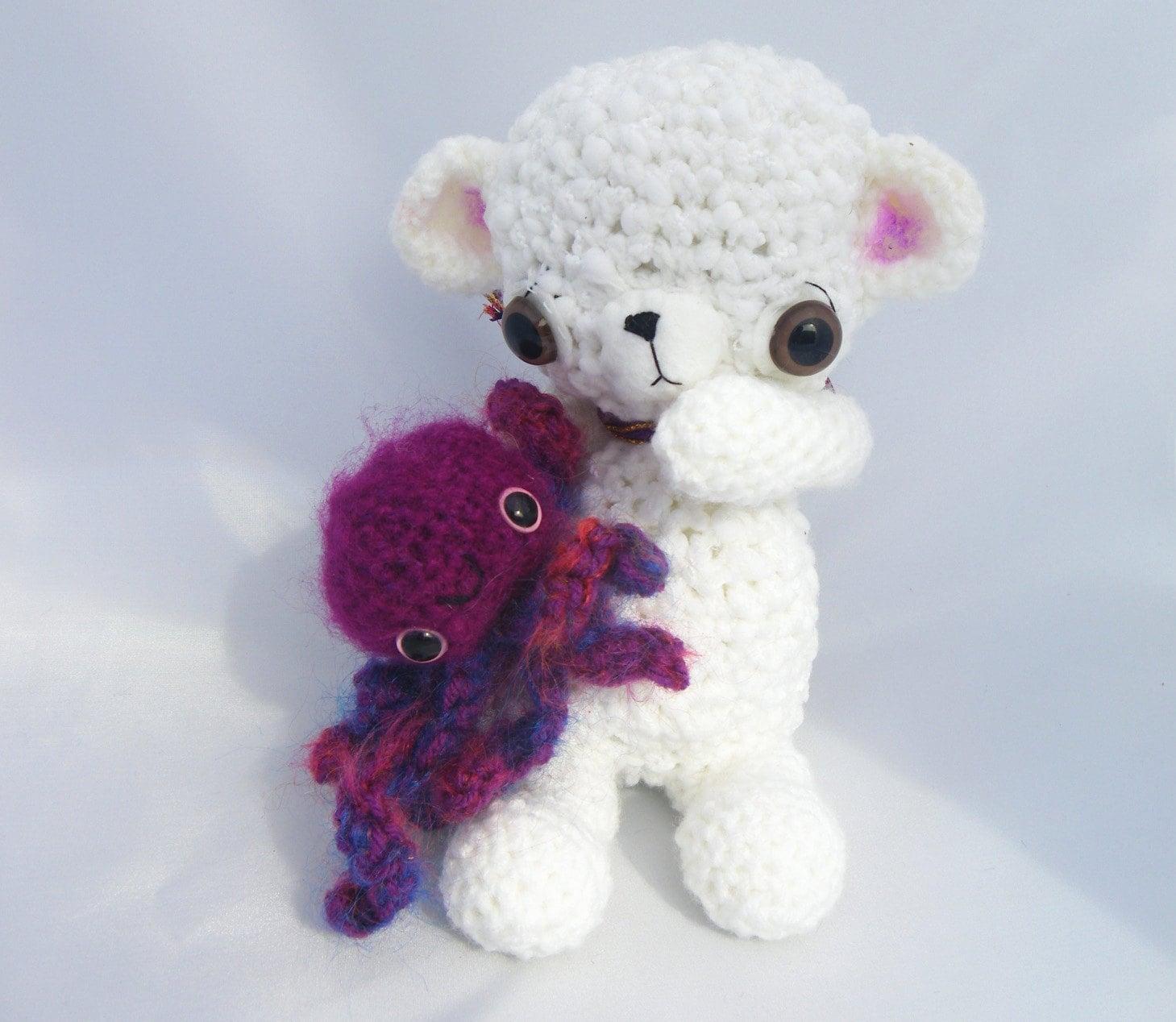 Octopus Amigurumi Plush : bear octopus plush amigurumi stuffed animal by GretelCreations