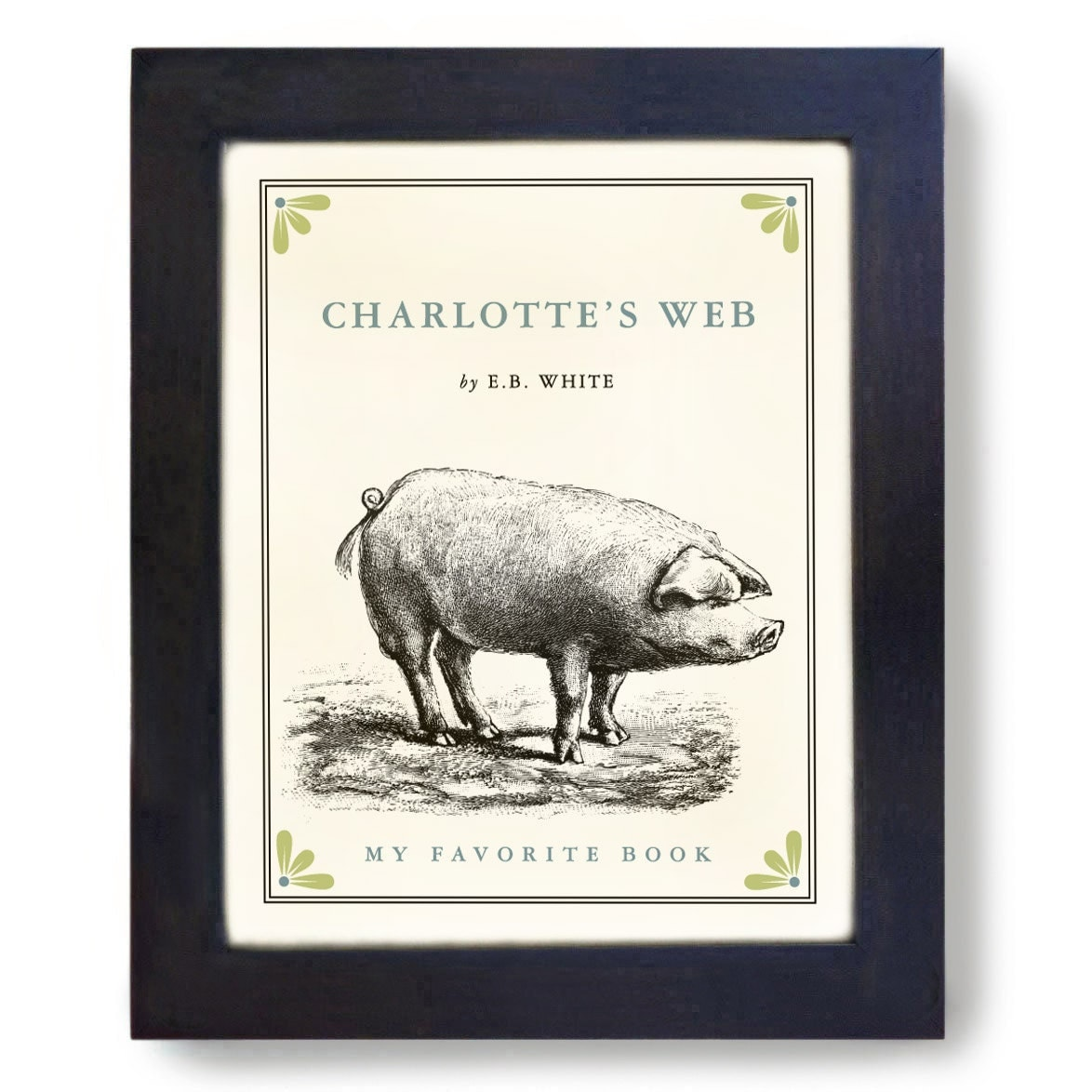 Pig Art Print Charlottes Web Classic Books Framed Art Print - DexMex