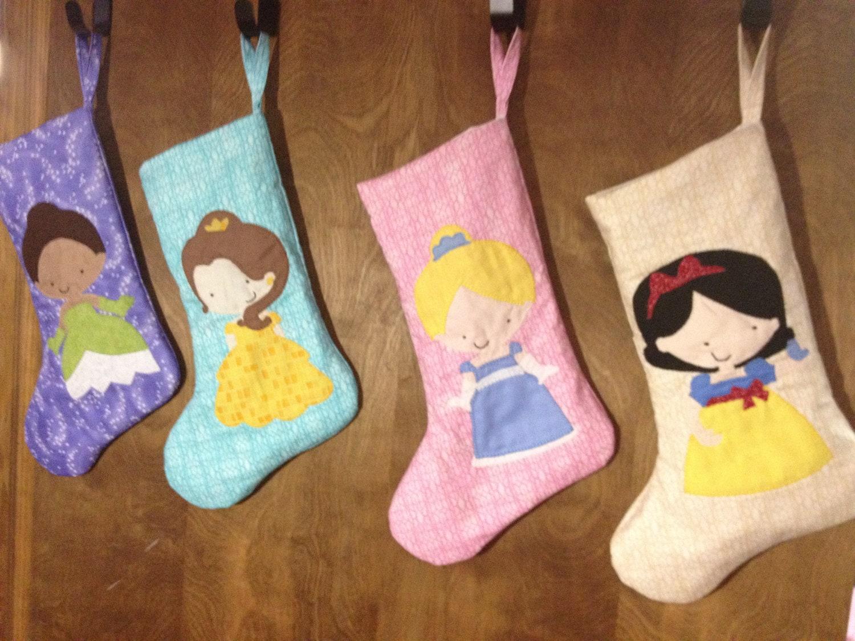 Disney Inspired Christmas Appliqué Stocking