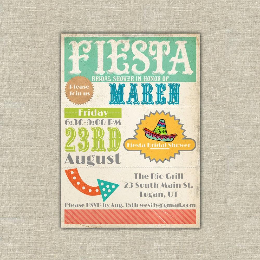 Printable Fiesta invitation cinco de mayo by ...