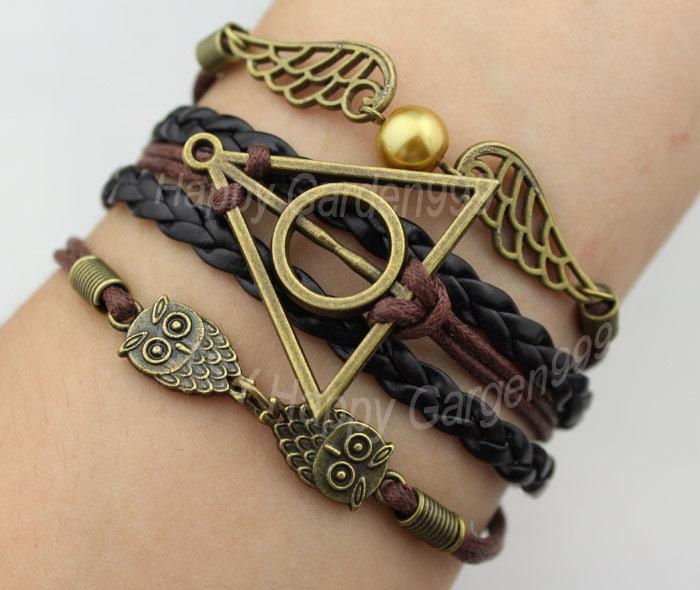 jewelry bracelet bronze harry potter bracelet by